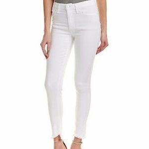 Joe's Jeans Flawless White Jeans raw hem